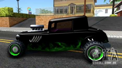 Green Flame Hotknife Race Car para GTA San Andreas esquerda vista