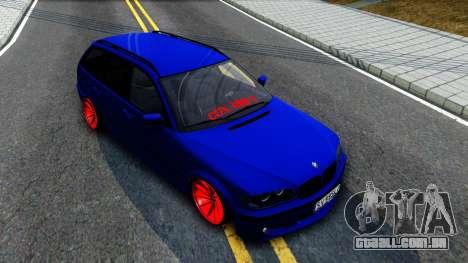 BMW E46 Touring Facelift para GTA San Andreas vista direita