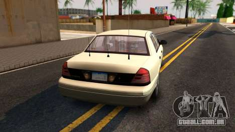 Ford Crown Victoria Unmarked 2009 para GTA San Andreas esquerda vista