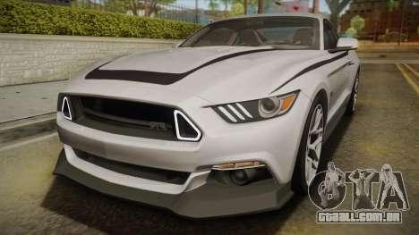 Ford Mustang RTR Spec 2 2015 para GTA San Andreas vista superior