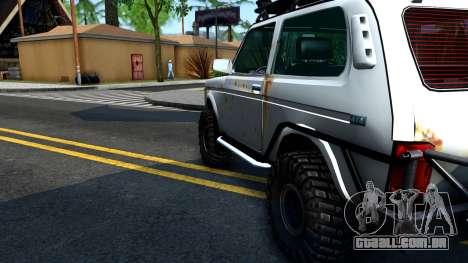 Lada Niva 4x4 Off Road para GTA San Andreas vista interior