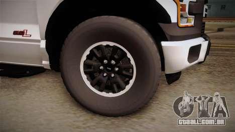 Ford Raptor para GTA San Andreas vista traseira