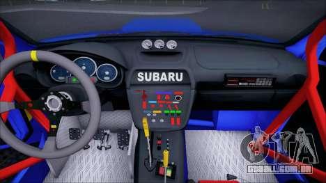 Subaru Impreza WRX STI WRC Rally 2005 para GTA San Andreas vista interior