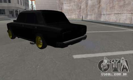 VAZ 2107 Black Jack para GTA San Andreas esquerda vista