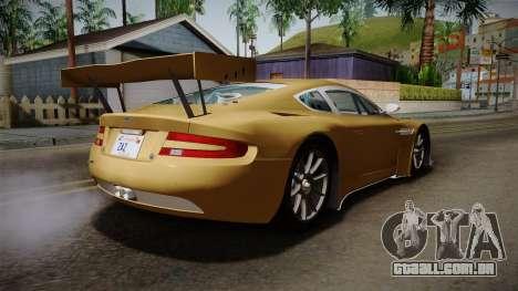 Aston Martin Racing DBRS9 GT3 2006 v1.0.6 YCH para GTA San Andreas traseira esquerda vista