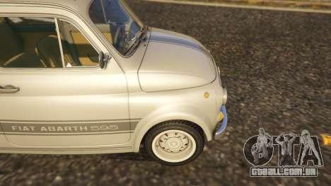 GTA 5 Fiat Abarth 595ss Street ver traseira direita vista lateral