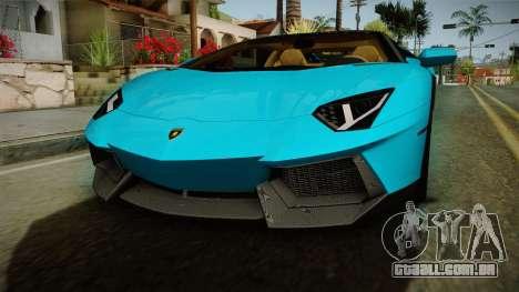 Lamborghini Aventador Itasha Rias Gremory para vista lateral GTA San Andreas