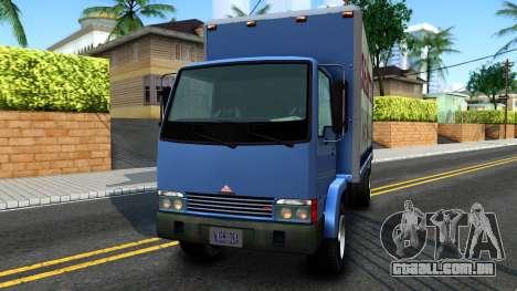 GTA IV Maibatsu Mule with GTA SA Ads para GTA San Andreas traseira esquerda vista