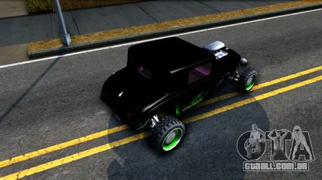 Green Flame Hotknife Race Car para GTA San Andreas vista traseira