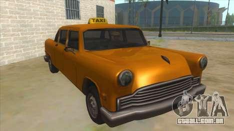 VC Cabbie Xbox para GTA San Andreas vista traseira