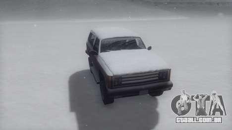 Rancher Winter IVF para GTA San Andreas traseira esquerda vista