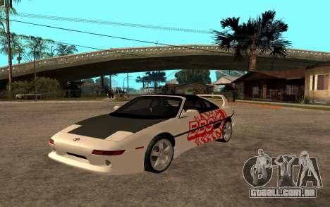 Toyota MR2 GT para GTA San Andreas traseira esquerda vista