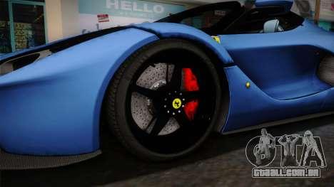 Ferrari LaFerrari Aperta 2017 para GTA San Andreas vista traseira