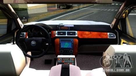 2007 Chevy Avalanche - Pilot Car para GTA San Andreas vista interior