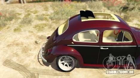 GTA 5 Volkswagen Beetle traseira direita vista lateral