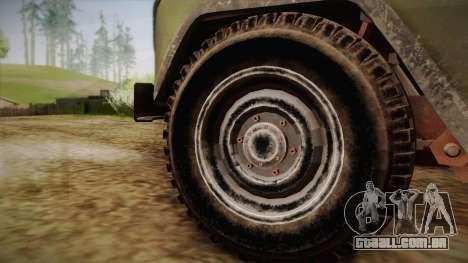 УАЗ-3151 CoD4 MW Remasterizada de FERTILIZAÇÃO i para GTA San Andreas traseira esquerda vista