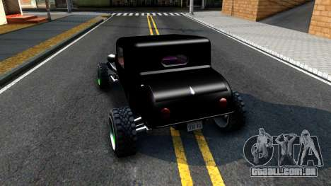 Green Flame Hotknife Race Car para GTA San Andreas traseira esquerda vista