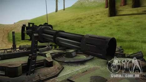 Abrams Tank Woolant Camo para GTA San Andreas vista traseira