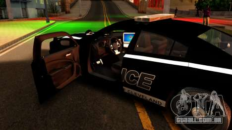 2014 Dodge Charger Cleveland TN Police para GTA San Andreas vista interior