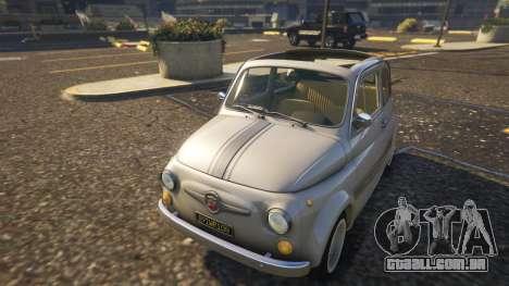 GTA 5 Fiat Abarth 595ss Street ver voltar vista
