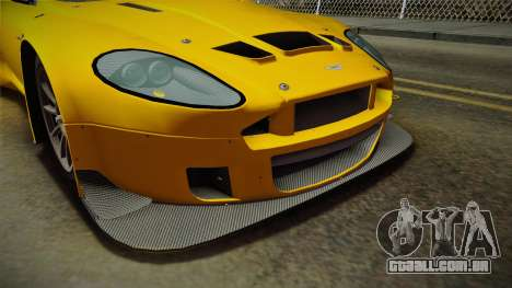 Aston Martin Racing DBRS9 GT3 2006 v1.0.6 Dirt para o motor de GTA San Andreas