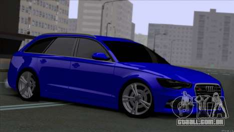 AUDI RS6 2014 para GTA San Andreas esquerda vista
