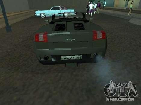 Lamborghini Galardo Spider para GTA San Andreas vista direita
