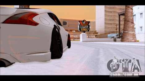 Nissan 370z Drift Edition para GTA San Andreas traseira esquerda vista