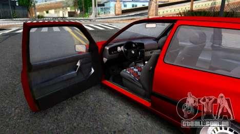 Volkswagen Golf Mk3 1997 para GTA San Andreas vista traseira