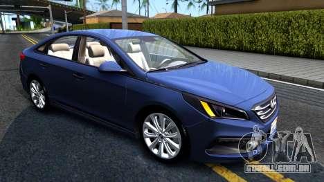 Hyundai Sonata 2016 para GTA San Andreas esquerda vista