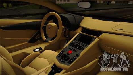 Lamborghini Aventador Itasha Rias Gremory para GTA San Andreas vista interior