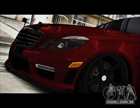 Mercedes-Benz E63 (W212) AMG 2010 para GTA San Andreas vista interior
