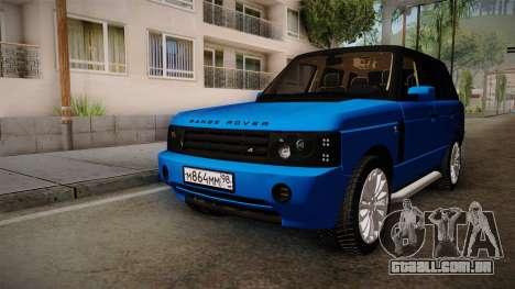 Range Rover 2008 para GTA San Andreas