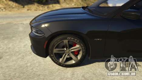 GTA 5 Dodge Charger 2016 traseira direita vista lateral