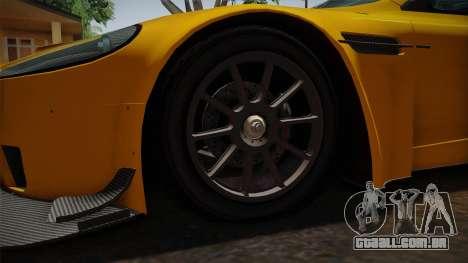 Aston Martin Racing DBRS9 GT3 2006 v1.0.6 Dirt para GTA San Andreas vista traseira