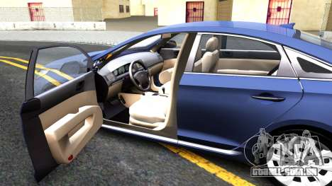 Hyundai Sonata 2016 para GTA San Andreas vista interior