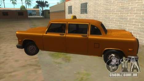 VC Cabbie Xbox para GTA San Andreas esquerda vista