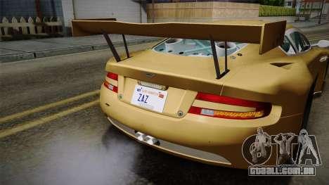 Aston Martin Racing DBRS9 GT3 2006 v1.0.6 YCH para GTA San Andreas interior