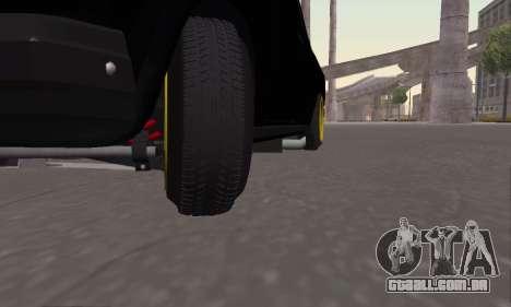 VAZ 2107 Black Jack para GTA San Andreas vista traseira