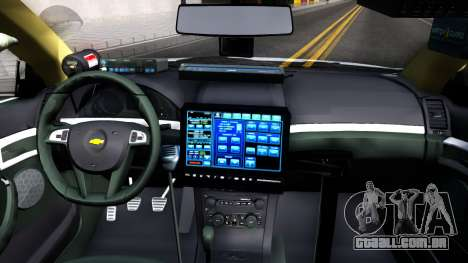 Chevy Caprice Metro Police 2013 para GTA San Andreas vista interior