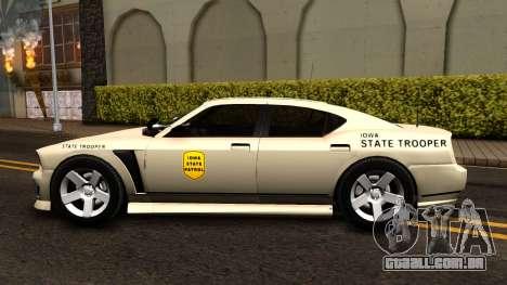 Bravado Buffalo Slicktop 2012 Iowa State Patrol para GTA San Andreas esquerda vista