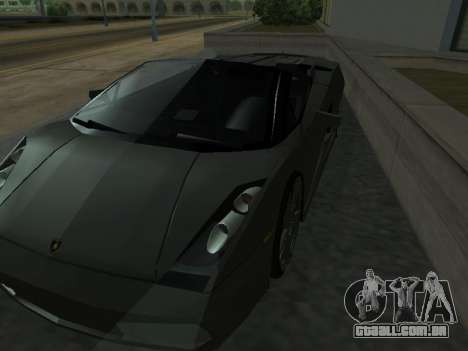 Lamborghini Galardo Spider para GTA San Andreas vista inferior
