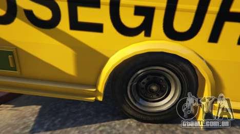 GTA 5 Carro Forte Prosegur Brasil vista lateral direita
