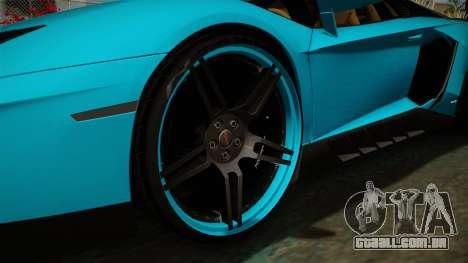 Lamborghini Aventador Itasha Rias Gremory para GTA San Andreas vista traseira