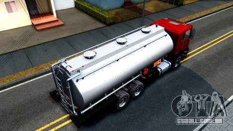 GTA V MTL Dune Oil Tanker para GTA San Andreas vista direita