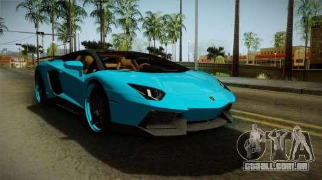 Lamborghini Aventador Itasha Rias Gremory para GTA San Andreas traseira esquerda vista