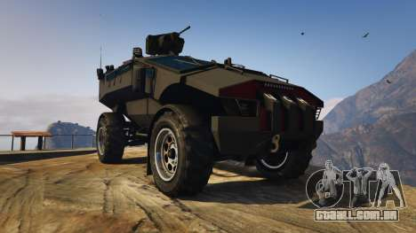 GTA 5 Punisher Black Armed Version voltar vista