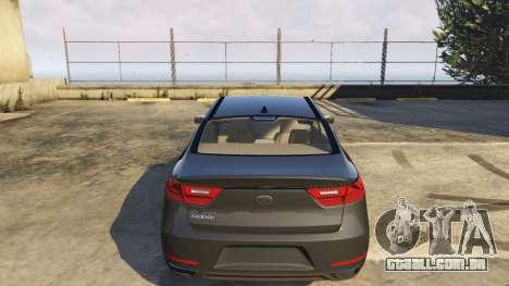 GTA 5 Kia Cadenza 2017 vista lateral direita
