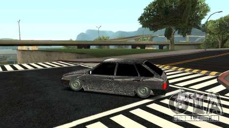 2109 versão de Inverno para GTA San Andreas esquerda vista
