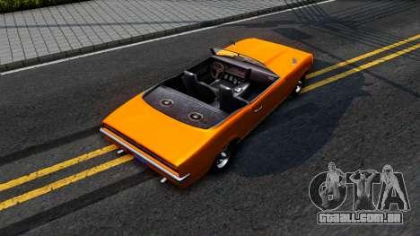 GTA V Declasse Vigero Retro Rim para GTA San Andreas vista traseira